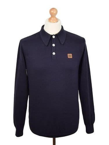 TROJAN Spearpoint Long Sleeve Top Navy