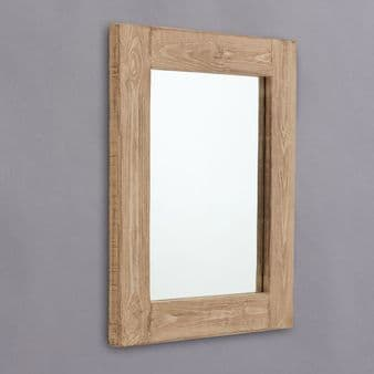 Chunky Distressed Wood Framed Mirrors
