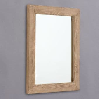 Distressed Wood Framed Mirror