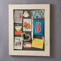 Old White Wood Framed Pinboard Noticeboard