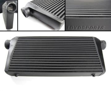 BLACK FMIC FFRONT MOUNT TURBO INTERCOOLER TYPE B 600x300x76MM