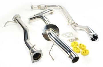 STAINLESS STEEL CAT DELETE EXHAUST SYSTEM FOR LANDROVER DEFENDER 90 TD5 98-07