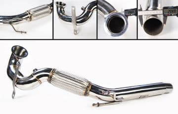 STAINLESS STEEL EXHAUST DE CAT DOWNPIPE FOR VW GOLF MK7 GTI 2.0 & TFSI 1.8
