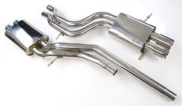 STAINLESS STEEL EXHAUST SYSTEM FOR AUDI A4 S4 2.7L B5 V6 1997-2002 Bi TURBO