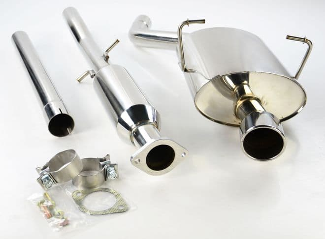 Stainless Steel Mini Cooper / One R50 Race Exhaust System Catalyst Back