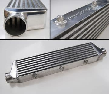 "TOYOSPORTS UNIVERSAL FMIC FRONT MOUNT INTERCOOLER  550x140x57MM 2.25"" IN/OUT"